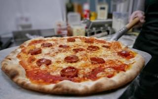 Stone baked pizza...Euoosh!