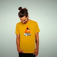 Mens Boardroom Rockwork Orange Tee Yellow