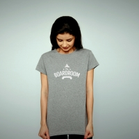 Womans Boardroom Curved Logo Tee
