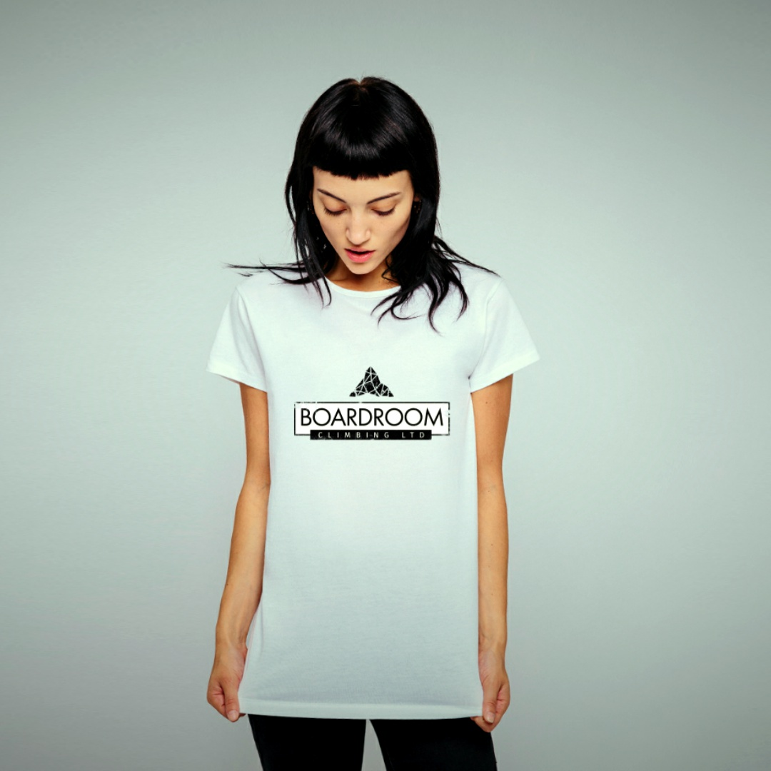 Womens Boardroom Square Logo Tee