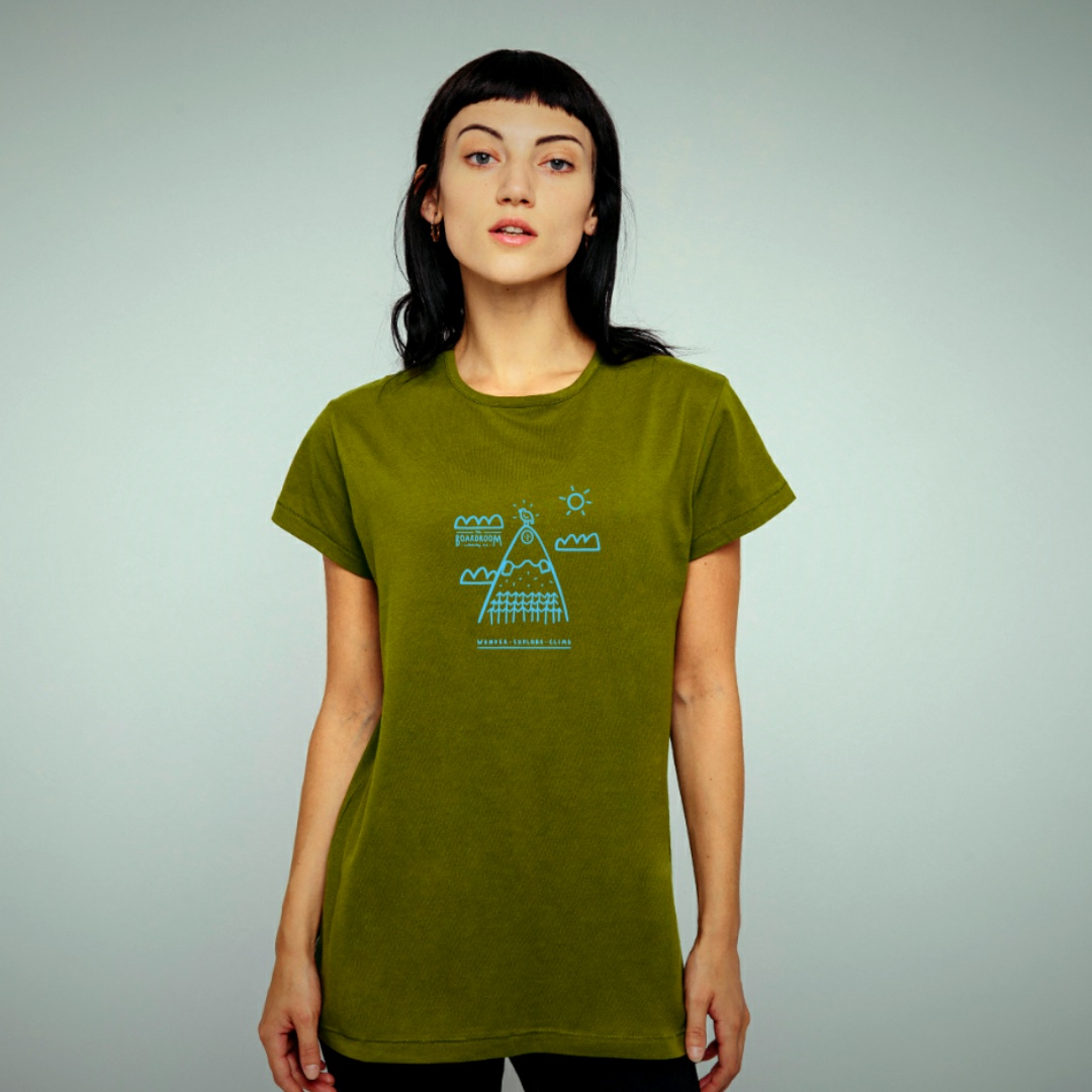 Womans Boardroom Wonder Explore Climb Tee